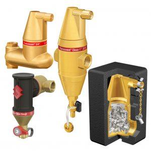 Separadores de ar, sujidade, combinados